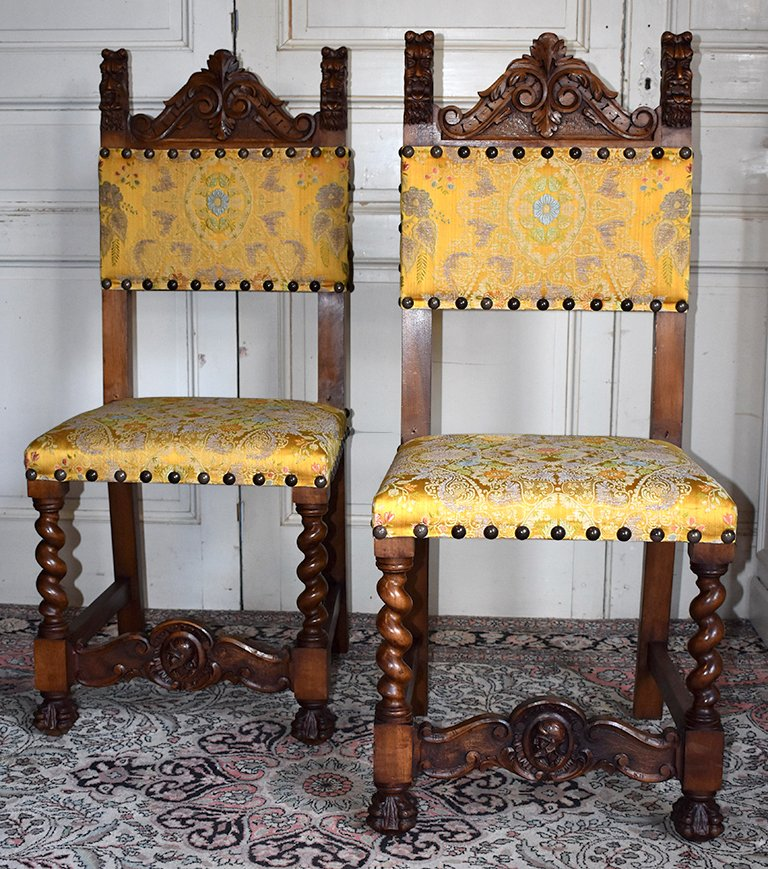 Pair Of Renaissance Style Chairs.