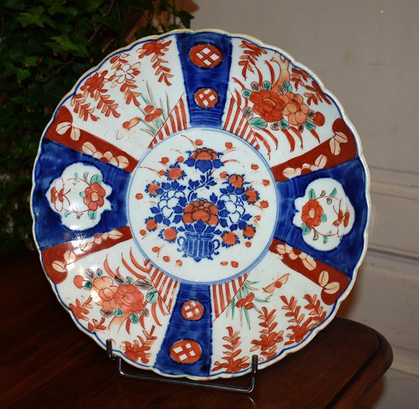Pair Of Decorative Porcelain Dishes Imari, Japan, XIX.-photo-1