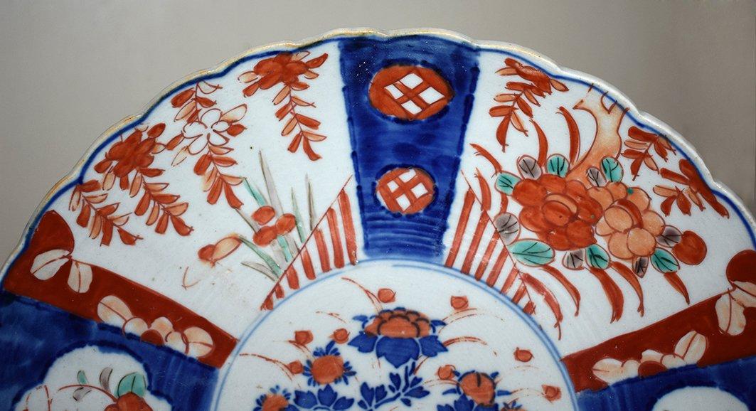 Pair Of Decorative Porcelain Dishes Imari, Japan, XIX.-photo-3