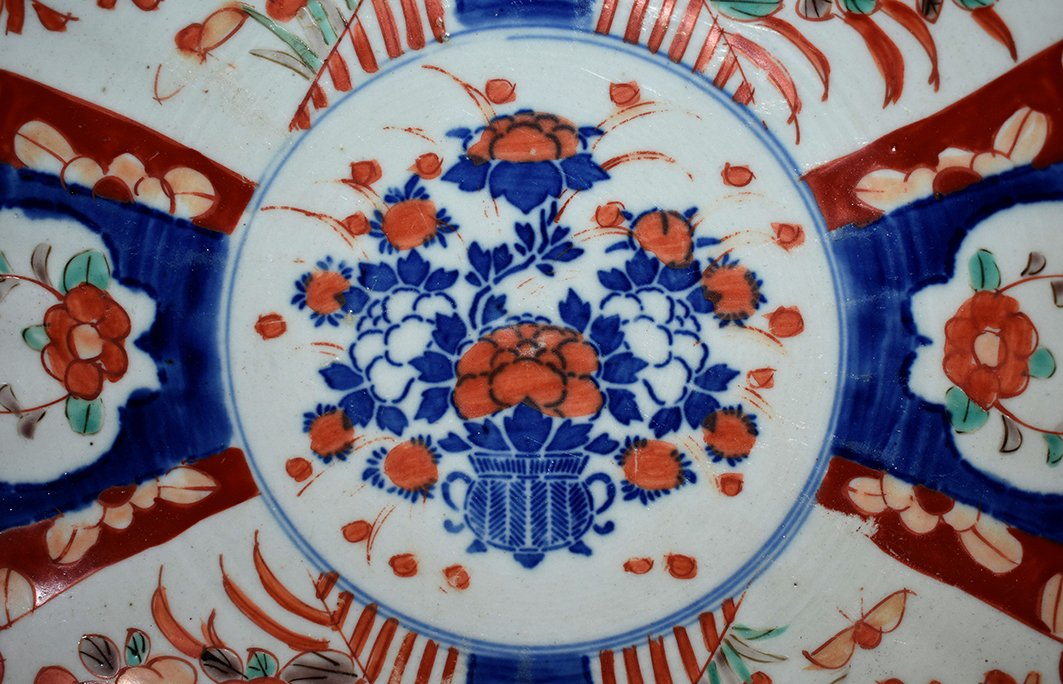 Pair Of Decorative Porcelain Dishes Imari, Japan, XIX.-photo-5