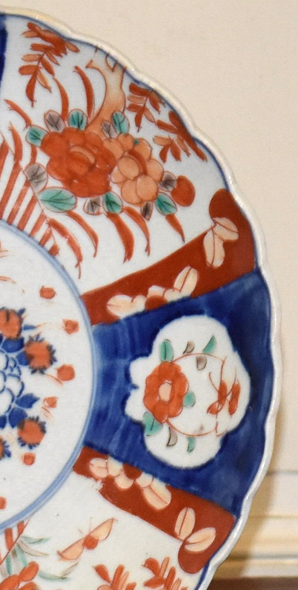 Pair Of Decorative Porcelain Dishes Imari, Japan, XIX.-photo-7