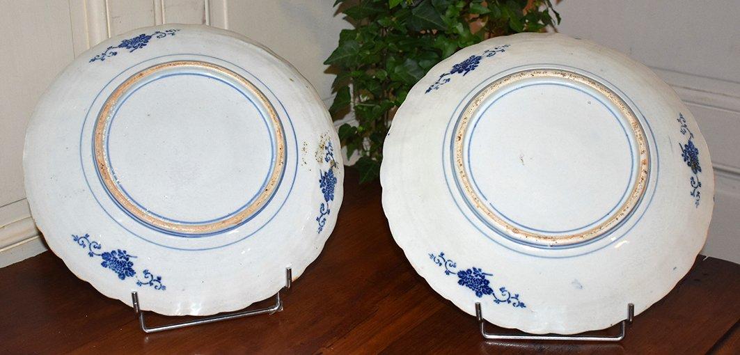 Pair Of Decorative Porcelain Dishes Imari, Japan, XIX.-photo-8
