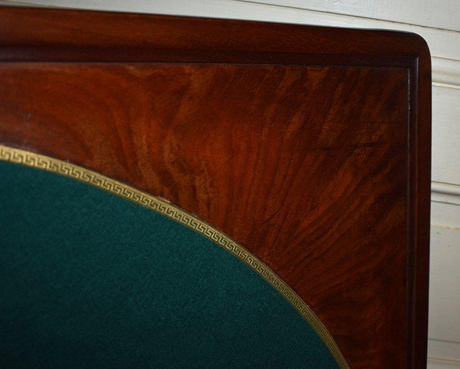 Table à Jeux En Acajou Pouvant Servir De Console. Epoque  Restauration, XIXème.-photo-5