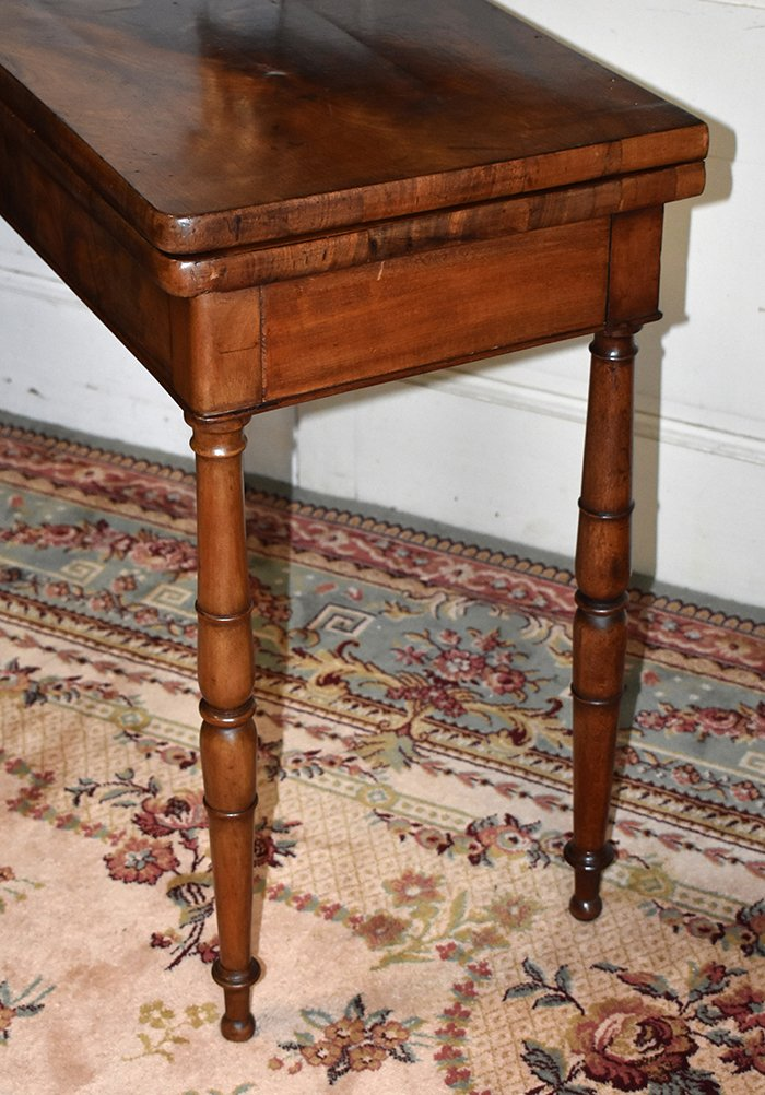 Table à Jeux En Acajou Pouvant Servir De Console. Epoque  Restauration, XIXème.-photo-8