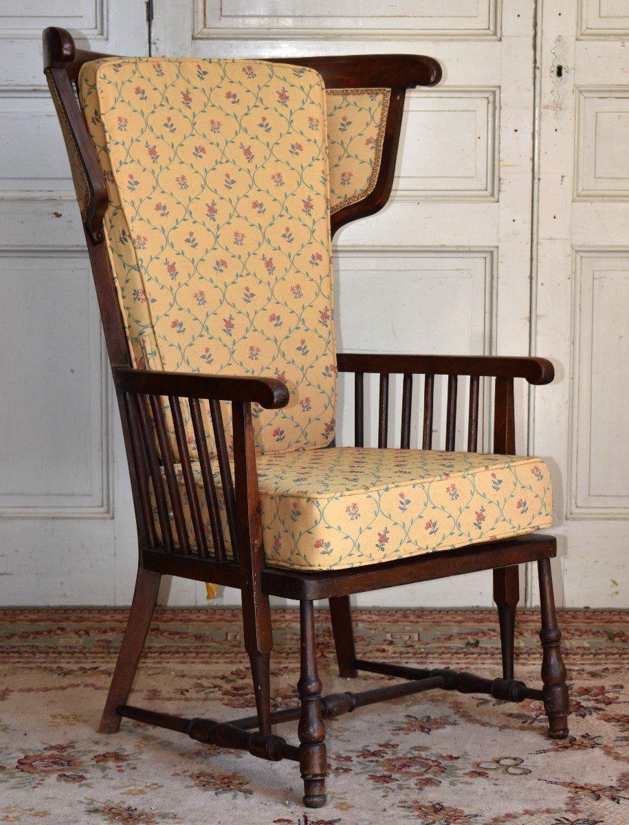 Fauteuil à Oreilles à Haut Dossier, Bergère Vintage Année 50-60,  esprit scandinave.