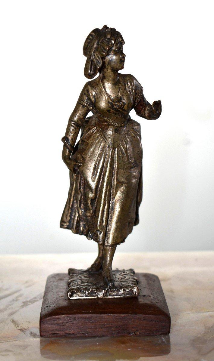 Paire De Statuettes , Sujet Militaire, Hussard  et  Jeune Fille,  Soldat en costume militaire, Premier Empire, Napoléon.-photo-5