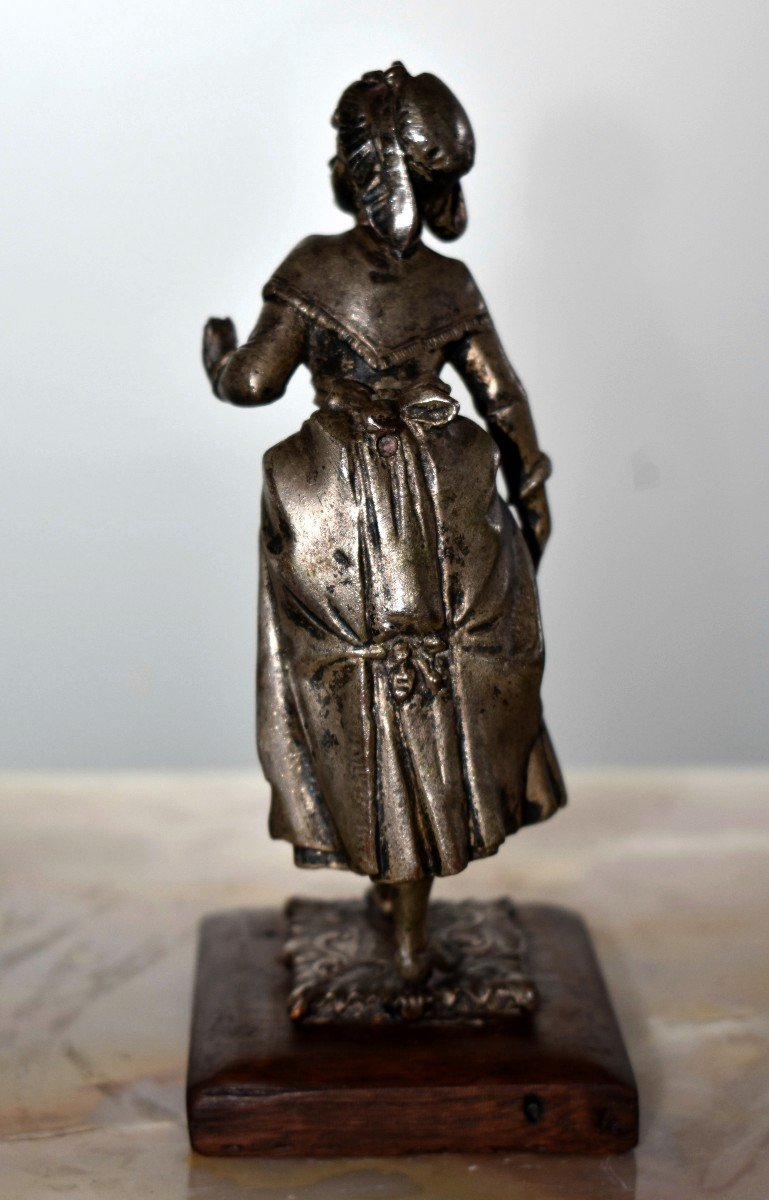 Paire De Statuettes , Sujet Militaire, Hussard  et  Jeune Fille,  Soldat en costume militaire, Premier Empire, Napoléon.-photo-7