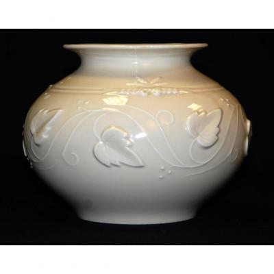 Vase Boule In Porcelain Of Limoges, Haviland.