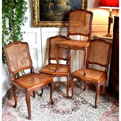 Suite Four Louis XV Style Chairs.