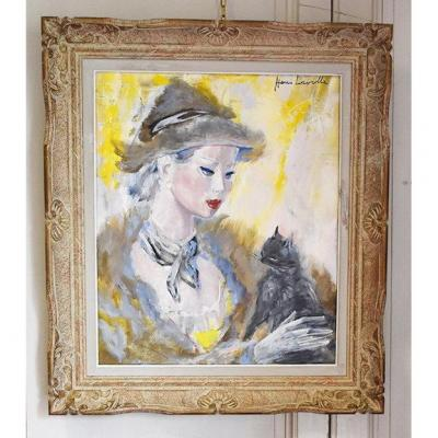 Henri Laville (1916-1995) Oil Painting On Canvas Entitled