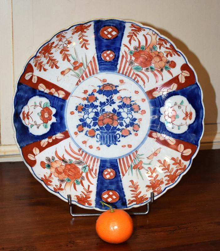 Pair Of Decorative Porcelain Dishes Imari, Japan, XIX.-photo-4
