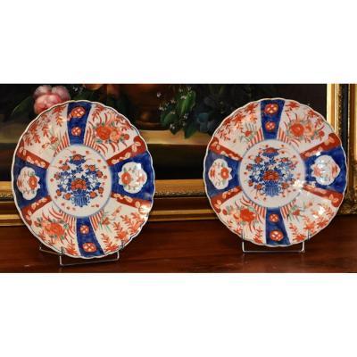 Pair Of Decorative Porcelain Dishes Imari, Japan, XIX.