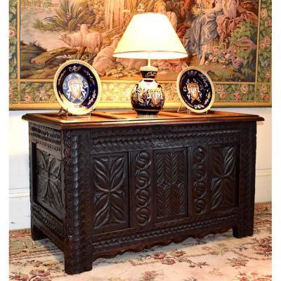 Renaissance Style Chest In Oak.