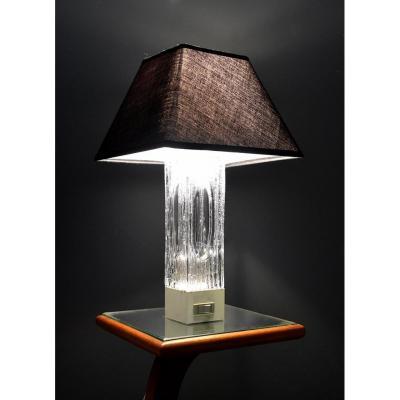 Lampe En Cristal Daum , Désign 50 - 60