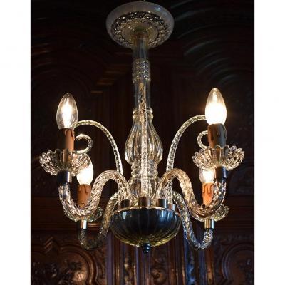 Lustre En Cristal De Venise, Suspension Murano
