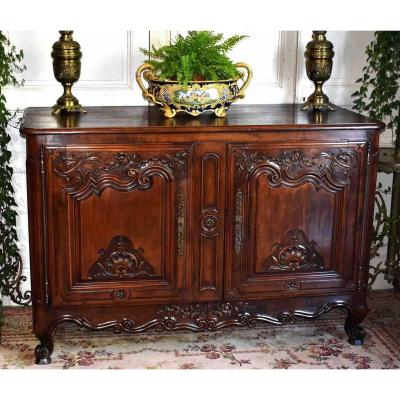 Low Carved Buffet, Louis XV Style, End Of The 18th Century.