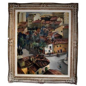 Bonnet Juliette, Marie, Rose, Urban Landscape, Montparnasse Frame.