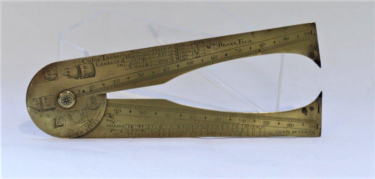 Compas d'Artillerie Ou De Calibre Par Dean, Circa 1730