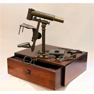 Universal Achromatic Microscope - Reference Or Workshop Model, Circa 1840