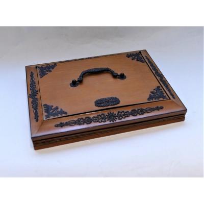 Boîte-coffret à Courrier Et à Soufflet d'époque Charles X