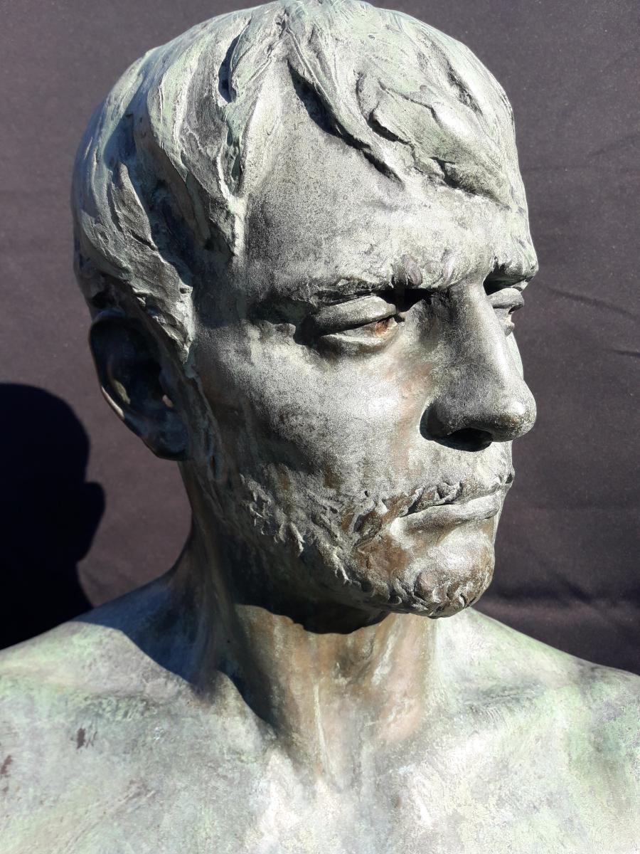 Importante Sculpture En Bronze De Bozzi 1892-photo-4