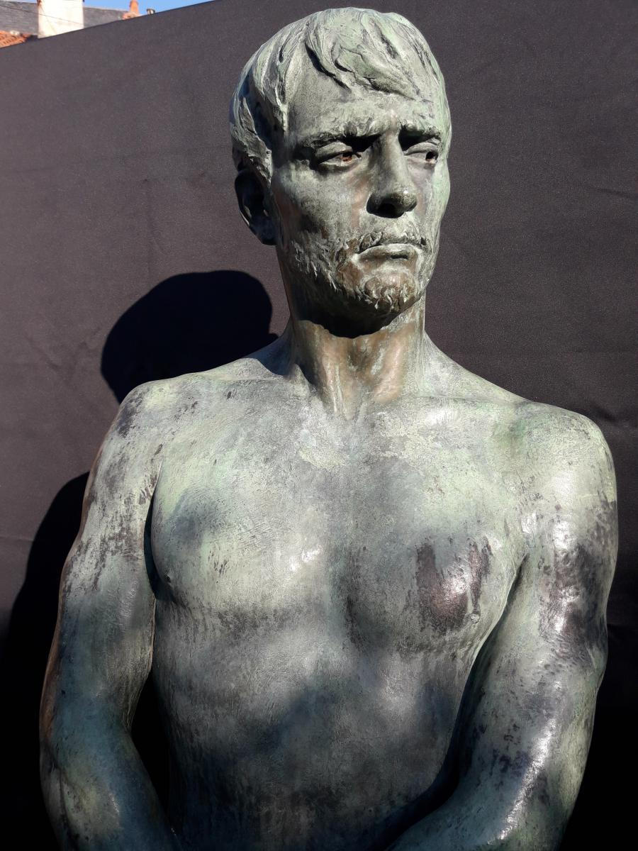 Importante Sculpture En Bronze De Bozzi 1892-photo-1