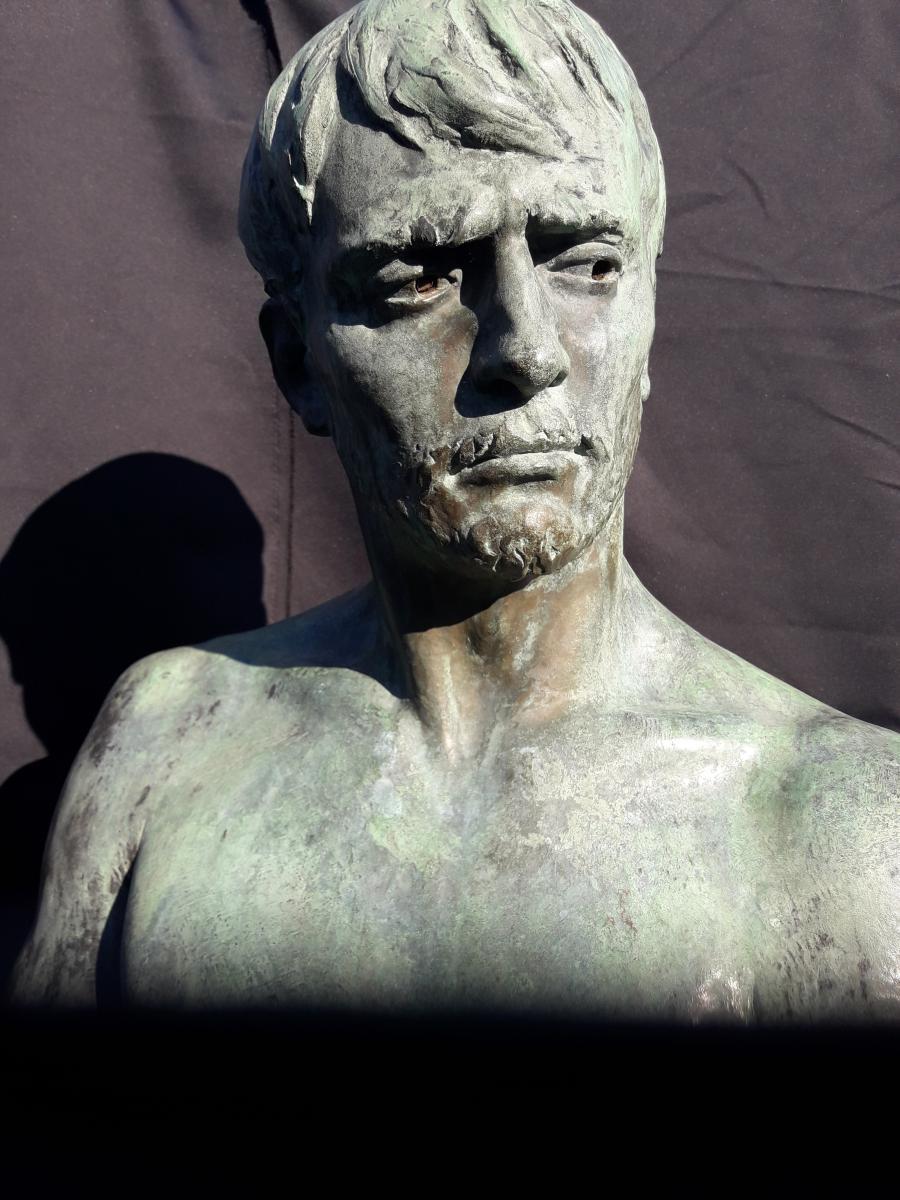 Importante Sculpture En Bronze De Bozzi 1892-photo-2