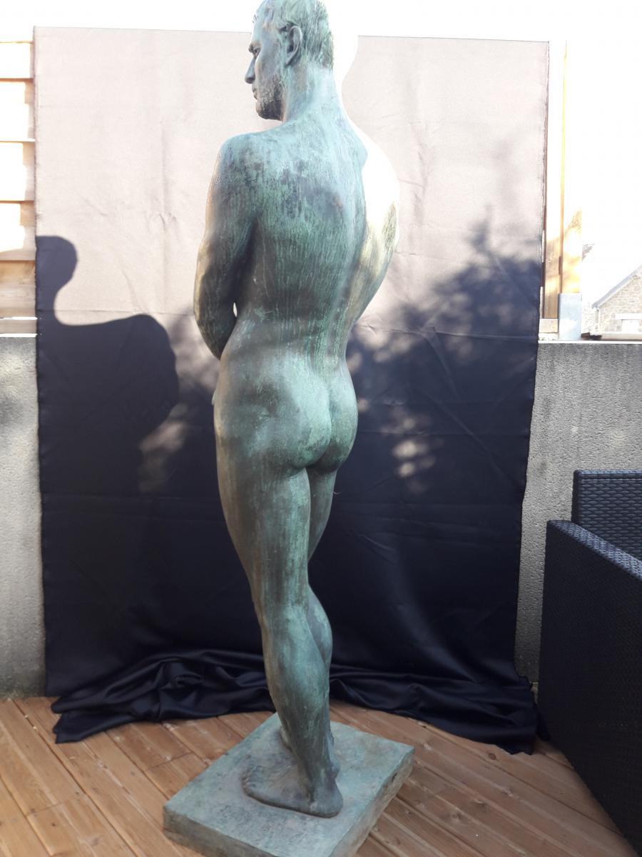 Importante Sculpture En Bronze De Bozzi 1892-photo-3