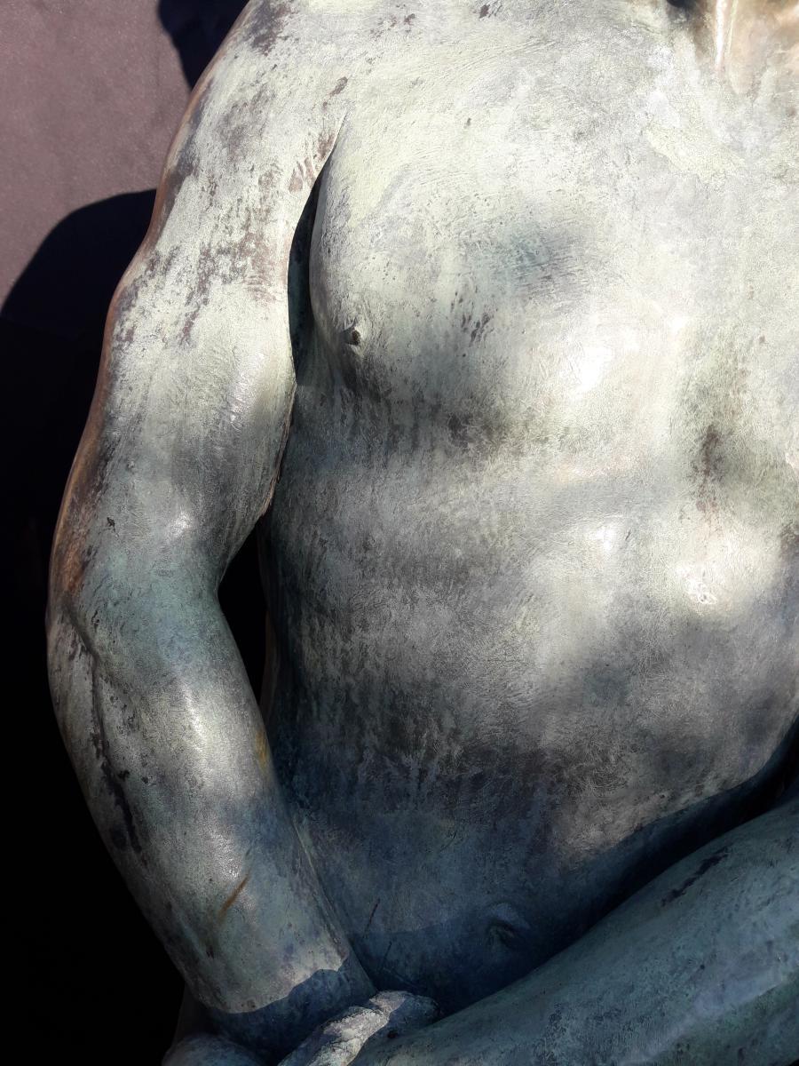 Importante Sculpture En Bronze De Bozzi 1892-photo-5