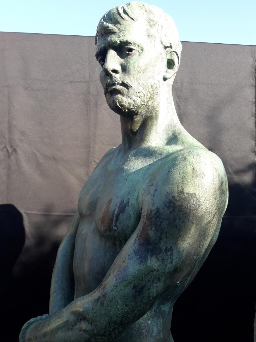 Importante Sculpture En Bronze De Bozzi 1892-photo-6