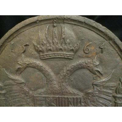 Plaque De Cheminée Armoirie 1564