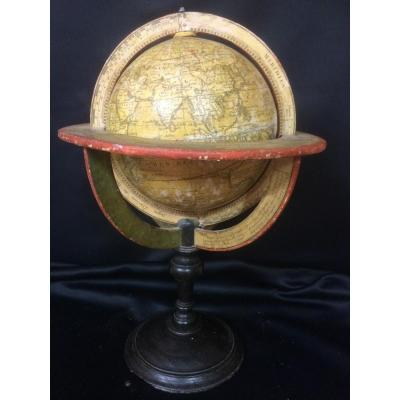 Globe Terrestre Delamarche Vaugondy 1808