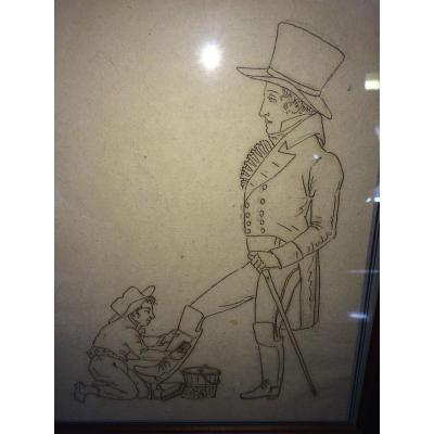 The Shoe Shoe Drawing Vieux Metiers
