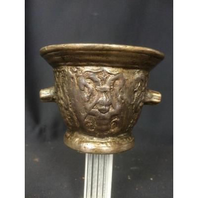 Mortier Bronze Rouen Haute Epoque