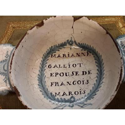 Faience Wedding Bowl