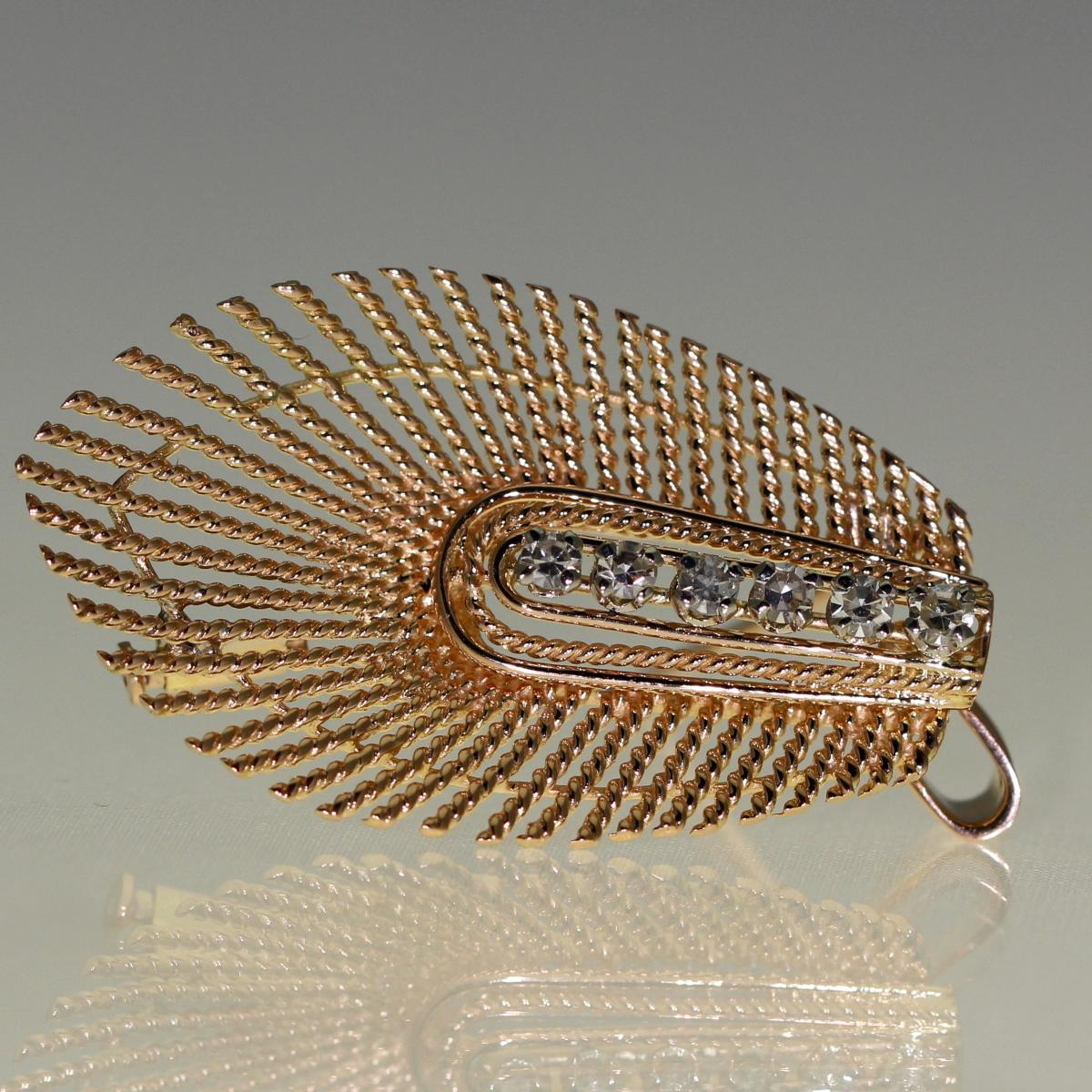 Brooch In Gold And Diamonds 1960-photo-3