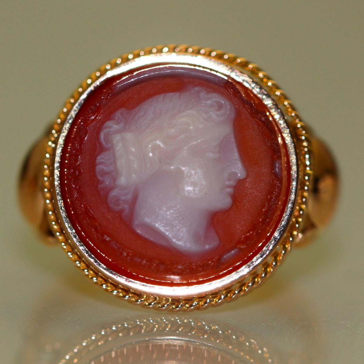 1900 Carnelian Ring