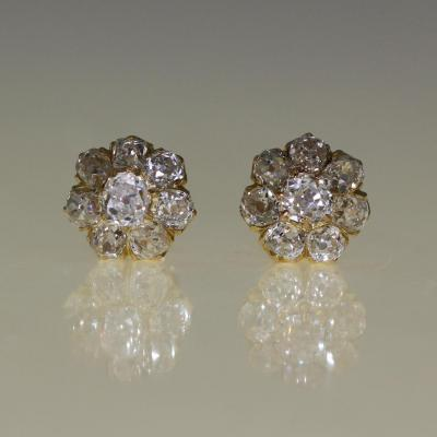 Clous d'Oreilles Marguerite Diamants 1905-1910