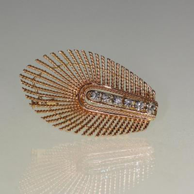 Broche En Or Et Diamants 1960