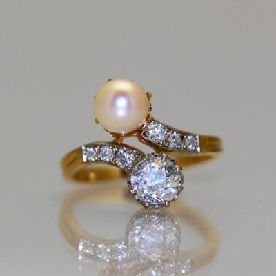 Bague Perle et Diamants 1905-1910