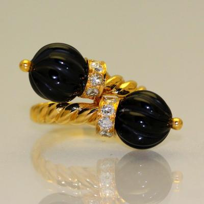 Chaumet Onyx And Diamonds Ring