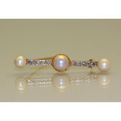 Broche Perles Et Diamants 1905 - 1910