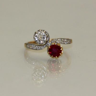 You And Me Ruby Diamond Ring