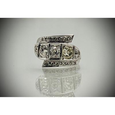 Bague Diamants Art-déco
