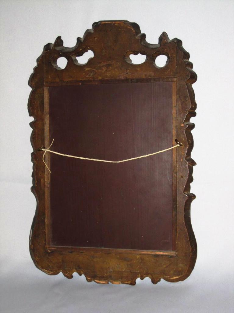 Miroir d 39 entre deux en bois et stuc dor style regence for Miroir des vanites