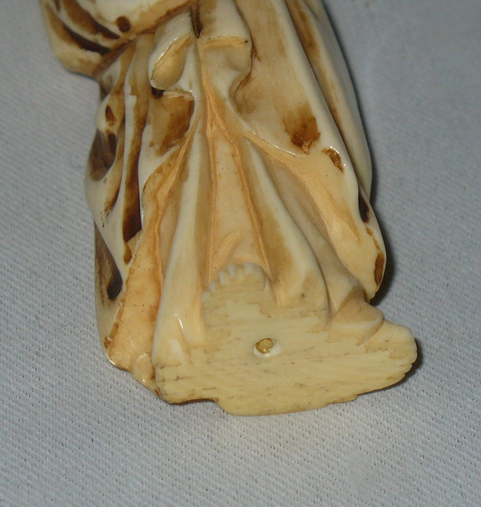 Figurine In Ivory, Madonna And Child, Sculpture Debut 20th Century-photo-2