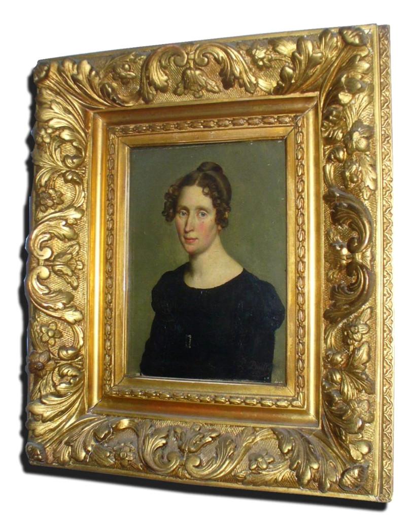 Portrait De Jeune Femme époque Restauration , Signé Louis Léopold Boilly , Robe Empire XIXe
