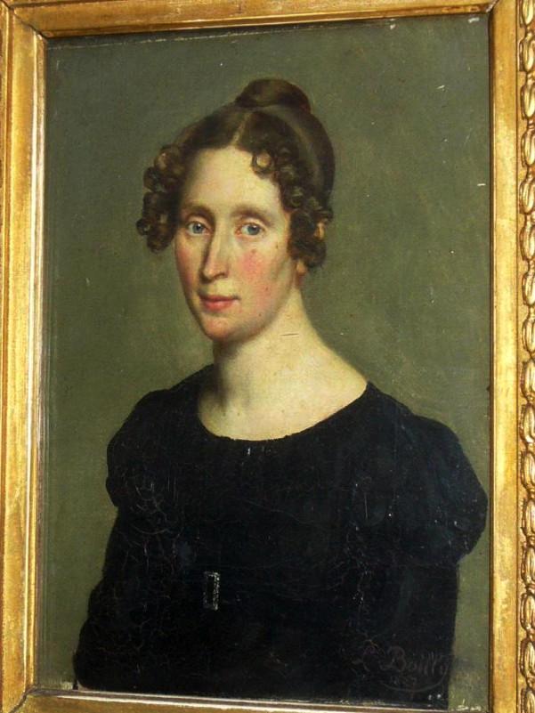 Portrait De Jeune Femme époque Restauration , Signé Louis Léopold Boilly , Robe Empire XIXe-photo-2