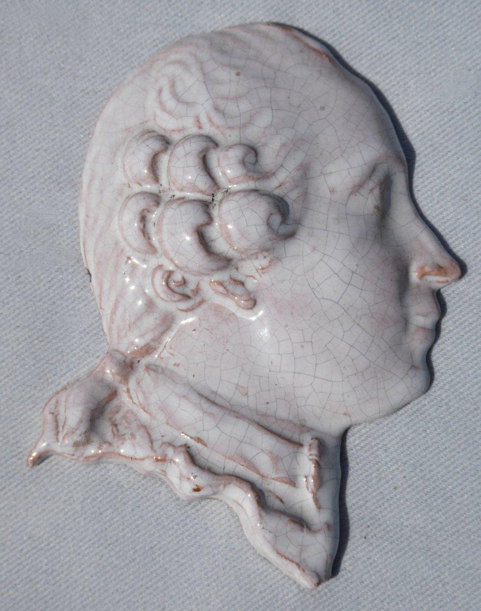 Profil En Terre Cuite Vernissée XVIIIe Maximilien François d'Autriche Frère De Marie Antoinette