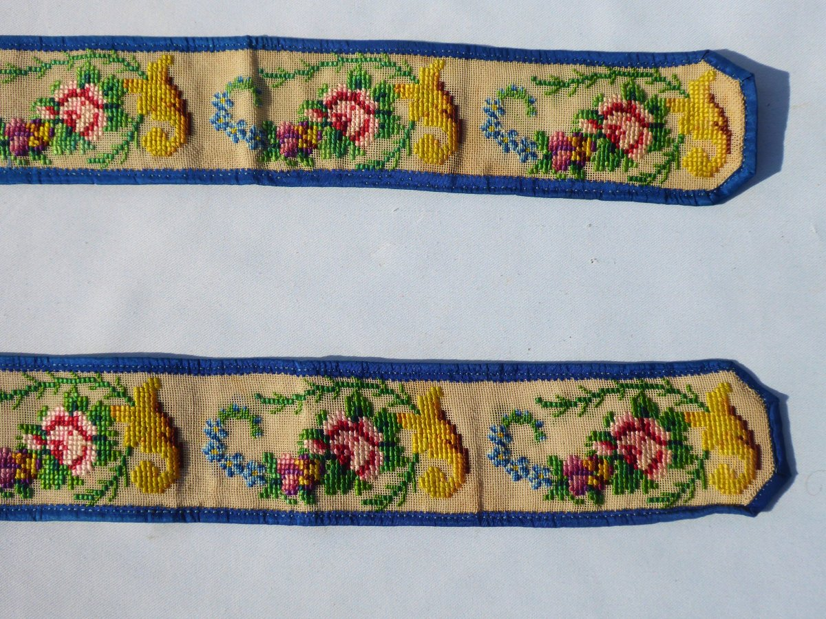Pair Of Suspenders 1830-1840, Embroidery With Small Points, Nineteenth Male Costume, Fashion-photo-2